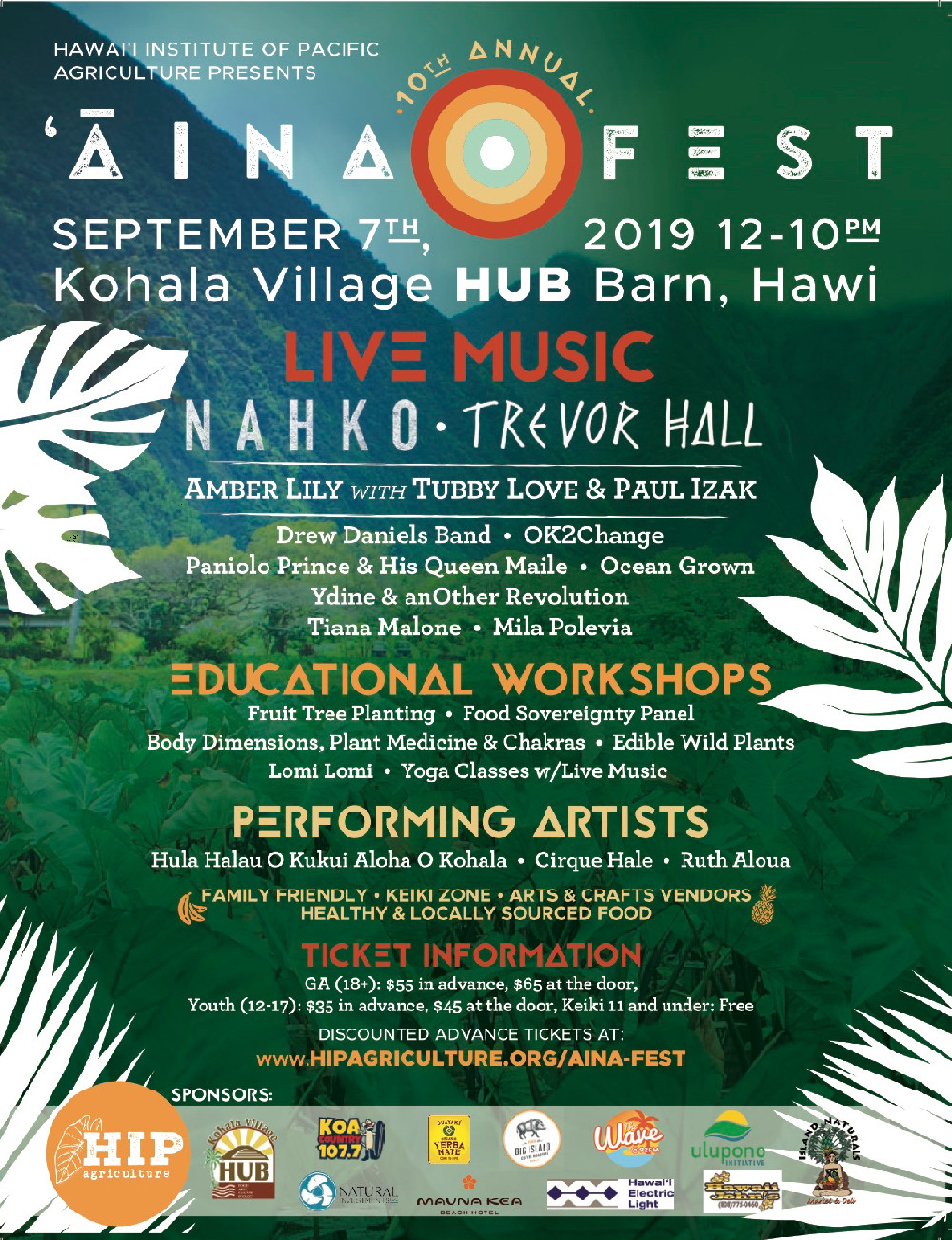 2019 Aina Fest Save the Date